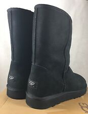 Ugg Australia Mens size 17 US 16 UK 5800 Classic Short Black Suede Sheepskin