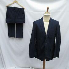 Hugo Boss Suit Navy Blue Jacket Trousers Cotton Wool Size 50 Pockets Still Sewn