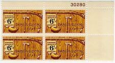 #1357 - 6-cent Daniel Boone -  Plate Block (4) - MNH