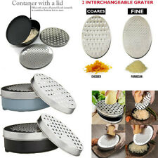 MAC Cheese Grater with Lid Container Coarse & Fine Slicer Vegetables Fruits