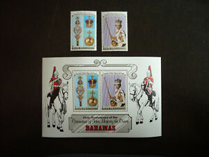 Stamps - Bahamas - Scott# 424 - 425a - Set of Stamps and Souvenir Sheet