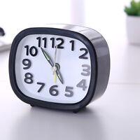 Rectangle Art Small Bedroom Compact Travel Quartz Beep Alarm Clock Cute Portable