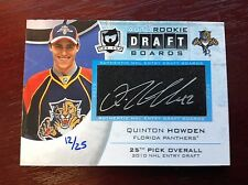 Quinton HOWDEN Auto Rookie Draft Boards 12/25 The Cup PANTHERS