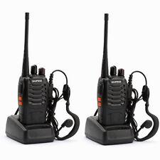2X BAOFENG BF888S UHF Walkie Talkies 400-470MHz RICETRASMITTENTE Radio Radioline