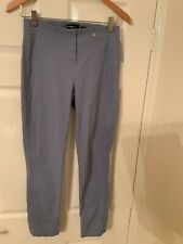 ROBELL PALE BLUE 3/4 LENGTH TROUSERS SIZE UK 10