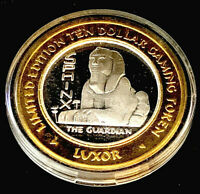 .999 $10 Silver Strike • Luxor Casino•Vegas• Sphinx • Year 2000 • Egyptian Round