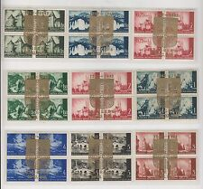 CROATIA,WW II,1942,nice collection landscape bloc of 4 with golden EXPO cancel,R