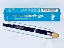 Bliss Please Don't Go Eyeshadow Primer Stick in Beige New In Box Full Size