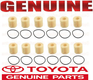 12-Pieces Genuine Toyota Engine Oil Filter's for Lexus Pontiac Scion Toyota