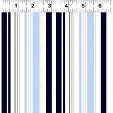 Clothworks Quarter Deck Stripe 100 Cotton Fabric Fq/metre Patchwork Quilting