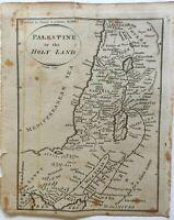 Holy Land Israel Palestine Judea Exodus 12 Tribes 1796 Doolittle scarce map