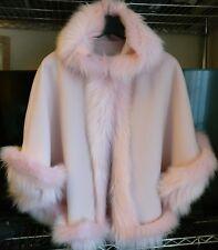 Rosa Bambine Soffici Invernali in pelliccia sintetica con cappuccio Mantello Cappotto Poncho Taglia XL 11-12 anni