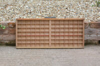 Vintage old wooden printers draw drawer / tray 36 x 82.5 cm - FREE POSTAGE