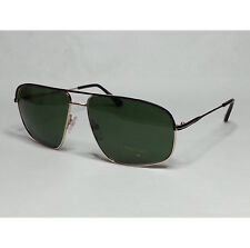 TOM FORD Men Sunglasses TF 467 JUSTIN gold metal frame green sunglasses