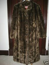 AWESOME ELEGANT BROWN FAUX FUR LONG COAT A MUST HAVE!