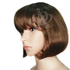 BOB style Straight type short end Women Wig wigs disco party cosplay Hair Brown