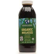 Wholesome Sweeteners Organic Blackstrap Molasses 1 Quart qt 32 oz fertilizer