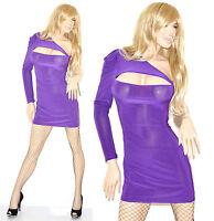 Miniabito donna vestito mini abito maniche lunghe abitino vestido dress kleid V5