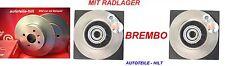 2 Brembo Bremsscheiben mit Radlager RENAULT 19 II Chamade MEGANE I Cabriolet
