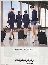 """PUBLICITE ADVERTISING  2012   BONOB JEANS  """" beak the codes"""""""