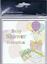 6 X BABY SHOWER INVITES WITH ENVELOPES (SE)