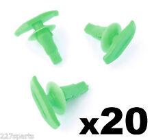 20x Toyota Plastic Weatherstrip & Rubber Door Seal Clips, Door Gasket Clip Green