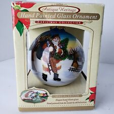 Antique Heritage Hand Painted Glass Ornament Special Edition