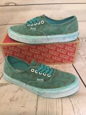 Vans Authentic Overwashed Paisley Turquoise Mens 6