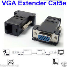 VGA Extender Male To Lan Cat5 Cat5e RJ45 Ethernet Female Adapter