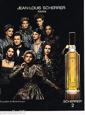 PUBLICITE ADVERTISING 055  1986  JEAN LOUIS SCHERRER  parfum femme n°2