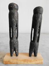 Lot de 2 Statuettes MOBA 11cm+12cm Art ethnique tribal africain fetish