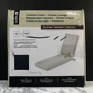 Classic Accessories Montlake Water-Resistant 80x26x3 Outdoor Chaise Lounge Cover