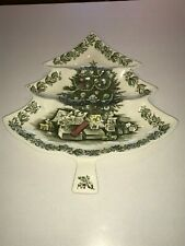 Johnson Bros. Merry Christmas 3 Section Condiment Relish Tray Candy Dish
