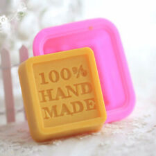 DIY 100% Hand Made Cube Soap Mold Silicone Mould For Cake Candy Chocolate Baking
