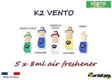 5B x 8 ml K2 VINCI VENTO CAR HOME AIR FRESHENER FRAGRANCE PERFUME HANGING BOTTLE