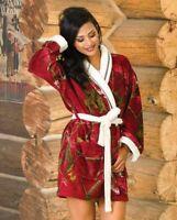 NEW Realtree Girl Stargaze Women's Robe - MED/LRG - Cardinal AP Red Camo