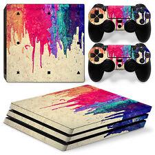Playstation 4 PS4 Pro Skin Vinyl Design Folie Aufkleber Schutz Sticker FARBEN