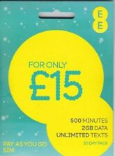 EE - T-MOBILE £15 pack PAY AS YOU GO SIM CARD- (buy 1 get 2 free)
