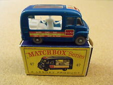OLD LESNEY MATCHBOX # 47 COMMER ICE CREAM CANTEEN ORIGINAL BOX GPW