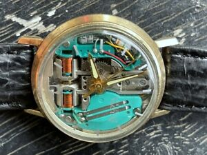 RARE 1967 BULOVA ACCUTRON SPACEVIEW 214 GOLD FILLED ALL ORIGINAL JUST SERVICED