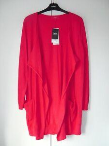 BNWT WOMENS NEXT RED WATERFALL CARDIGAN SIZE 12 NEW JUMPER JACKET TOP KNIT WOOL