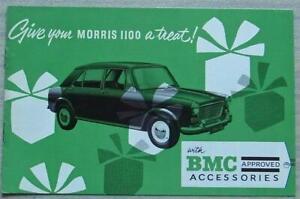 MORRIS 1100 BMC Approved Accessories Sales Brochure Dec 1964 #AKD 2074