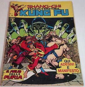 SHANG-CHI corno N.1 IL FIGLIO DELLA FURIA maestro del kung fu originale 1975
