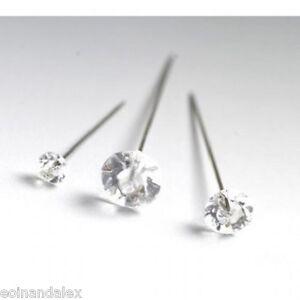 """100 Diamante Diamonte pins Wedding, Buttonholes Bouquet 4cm / 1.5"""", Florist Work"""