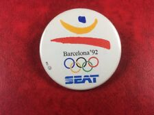 Olympic Games BARCELONA 1992 PIN BUTTON BADGE SEAT. Metal. Rare !!!