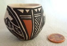 Miniature ACOMA Etched Sgraffito POT * Mesa Scene *Clive 15 Years Old* 1.5 x 1.6