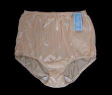 DIXIE BELLE Applique Retro Styling 100% Nylon Full-Cut Beige Brief Size 10/3XL