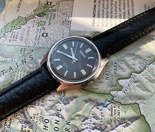 Vintage SEIKO 7000 17 Jewels Manual Wrist Watch Early 1970s Black Face Japan