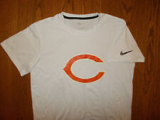 NEW NIKE NFL CHICAGO BEARS SHORT SLEEVE WHITE COTTON T-SHIRT MENS MEDIUM