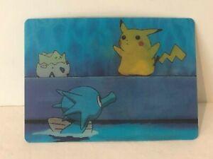 Pokemon Pikachu 3D Lenticular Promo Card Viz Video Pioneer Movie DVD Animation